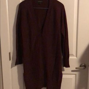 Banana Republic long cardigan with patch elbows